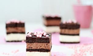 עוגת ביסקוויטים בשני צבעים (צילום: שרית נובק - מיס פטל, אוכל טוב)