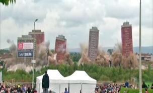צפו בפיצוץ שהשתבש (צילום: skynews)