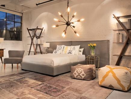 עיצוב חדר שינה, ביתילי, חדר שינה חמים ומזמין, במגרת המבצע.  (צילום: יוסי צרויה)