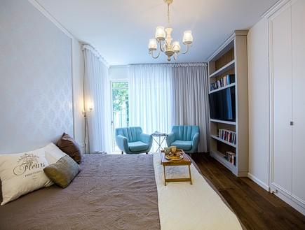 עיצוב חדר שינה, הלל אדריכלות, חדר שינה רב שימושי. (צילום: לירן שמש)