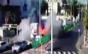 תיעוד: רגע הפיצוץ הפלילי בחדרה