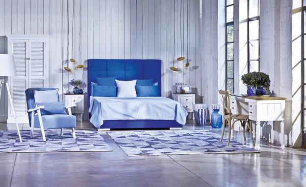 עיצוב חדר שינה, ביתילי, חדר שינה בגווני העונה ובדגש על שטיחים (צילום: עופר אמיר)
