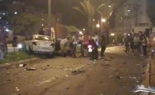 כלי הרכב שנפגע, הערב (צילום: עד ראייה)