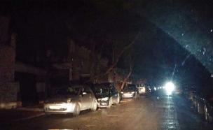 הפסקות חשמל מהבוקר בכפר סבא (צילום: מאיה רגב)