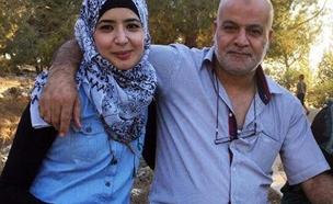 אסראא עאבד, הצעירה שנחשדה כמחבלת, יחד עם אביה