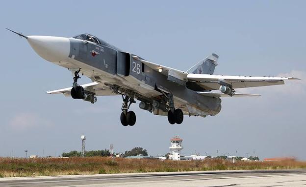 סוחוי 24 ממריא לתקיפה בסוריה (צילום: משרד ההגנה הרוסי)
