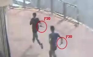 נסיון פיגוע דקירה שער שכם ירושלים (צילום: משטרת ישראל)