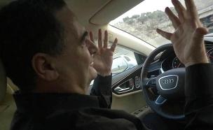 """צפו: השר כ""""ץ במכונית שנוסעת לבד (צילום: יח""""צ)"""