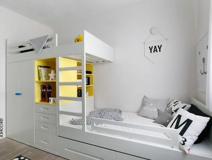ארון שהוא גם מיטת קומתיים. עיצוב הרהיט תמר מור