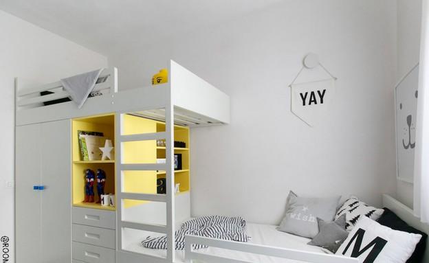 ארון שהוא גם מיטת קומתיים. עיצוב הרהיט תמר מור (צילום: שירן כרמל)