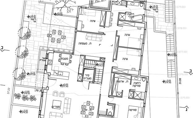 תכנית קומת מגורים (צילום: איתי אבירן)