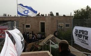 """ההריסה נדחתה לבקשת המשטרה. בית הכנסת """"איילת השחר"""""""