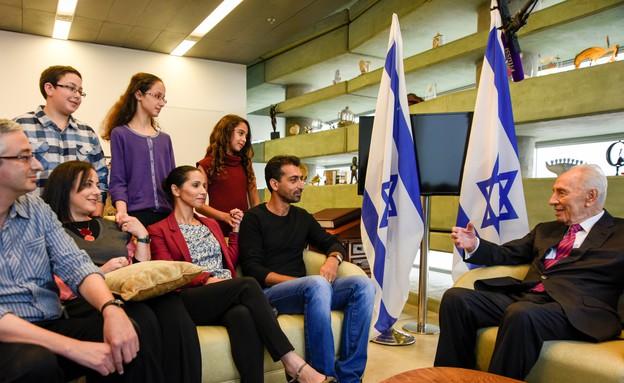 מפגש עם שמעון פרס (צילום: שירי קליין נהרי)