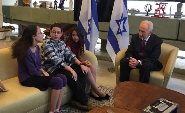 מפגש עם שמעון פרס (צילום: רותם אלון)