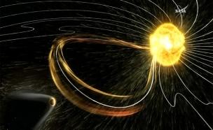 """הדמיה של סופה במאדים (צילום: נאס""""א)"""