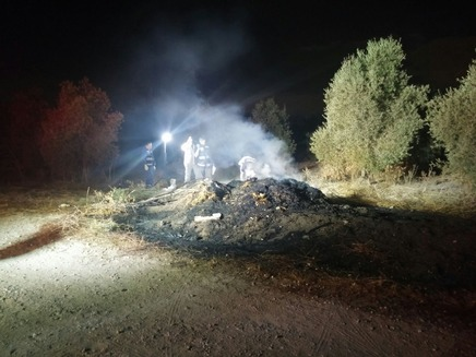 הזירה שבה נמצא הרכב השרוף