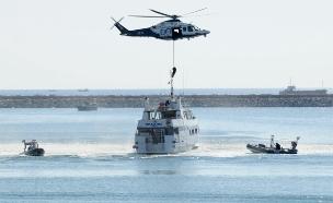 החיפושים אחר הנעדרים בים התיכון (צילום: cyprus navy)