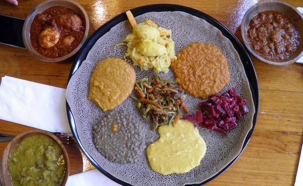 באלינג'רה אינג'רה אוכל אתיופי (צילום: עדי שלמה,  יחסי ציבור )