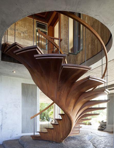 מדרגות מיוחדות 02, מדרגות עץ, צילום architecturendesign