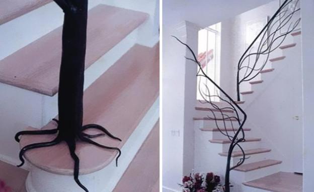 מדרגות מיוחדות 05, מעקה עץ בעיצוב Architetture del Ferro (צילום: Architetture del Ferro)