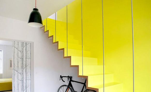 מדרגות מיוחדות 06, מדרגות צהובות בעיצוב Hanne Fuglbjerg (צילום: Hanne Fuglbjerg)