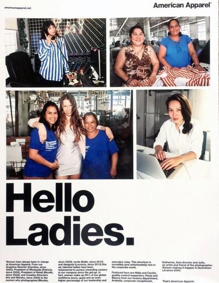 אמריקן אפרל, פרסומת פמיניסטית