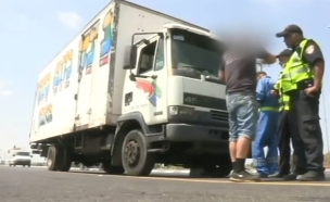 סכנת המשאיות ורכבי ההסעה (צילום: חדשות 2)