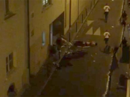 פיגוע בתיאטרון בפריז (צילום: חדשות 2)