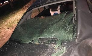 נזק נגרם למכוניות (צילום: רן ארווס)