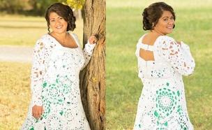 כלה סרגה שמלה (צילום: dailymail)