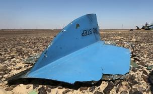 שרידי המטוס הרוסי בסיני (צילום: רויטרס)