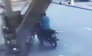 ברזיל: עמדת דלק קרסה על אופנוען