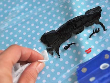 קראפטריה 02, שימוש בצבע, חותמות ושבלונות ליצירת איור אישי (צילום: the-crafeteria.com)