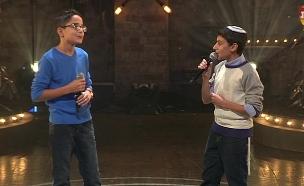 עוזיה ואברהם בדואט (צילום: מתוך בית ספר למוזיקה, שידורי קשת)
