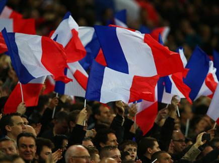 האוהדים במפגש הידידות בין אנגליה לצרפת (GETTY) (צילום: ספורט 5)
