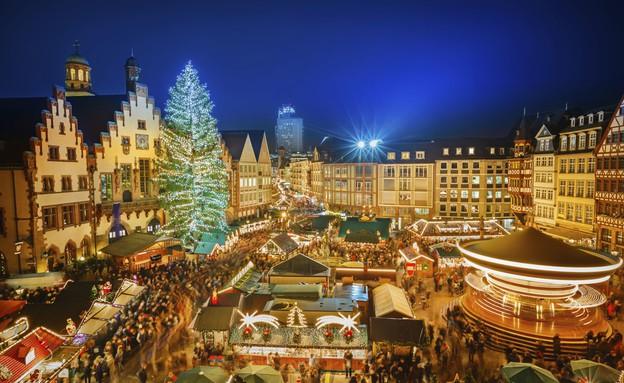 שוק חג מולד בפרנקפורט, גרמניה (צילום: אימג'בנק / Thinkstock)