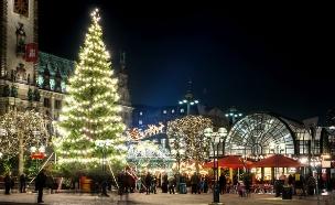 שוק חג מולד Rathausmarkt, המבורג, גרמניה (צילום: אימג'בנק / Thinkstock)