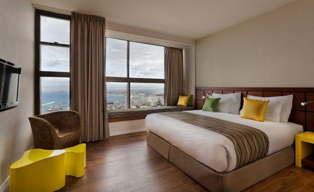חדר במלון ביי וויו (צילום: אסף פינצ'וק, יחסי ציבור)