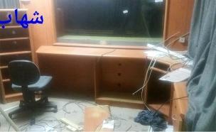 פשיטה על תחנת רדיו אל חליל (ללא) (צילום: חדשות 2)