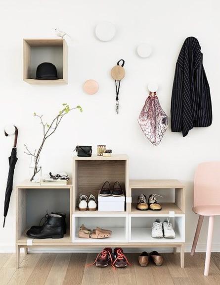 אחסון חורף, אחסון פתוח לנעליים בעיצוב muuto, ג (צילום: מתוך פינטרסט)