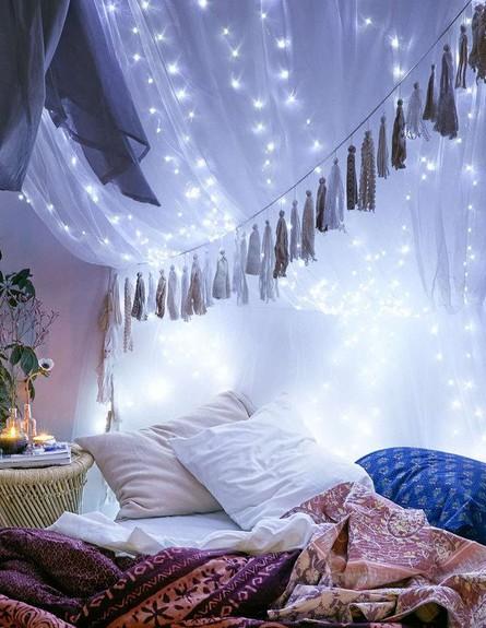 גרלנדות, פזרו אבקת קסם בחדר השינה.  (צילום: buzzfeed.com)
