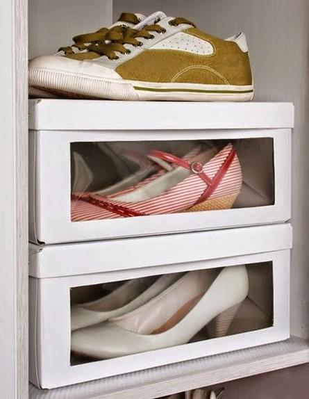 קופסאות נעליים (צילום:  DIY SELFY)