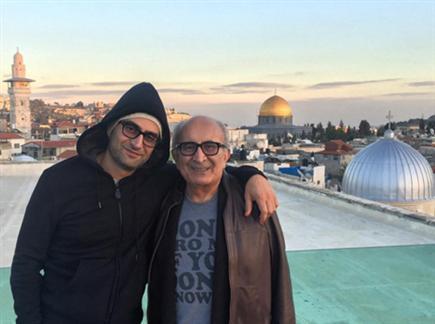 אספנדיארי עם אביו בירושלים (מתוך חשבון האינסטגרם שלו) (צילום: ספורט 5)