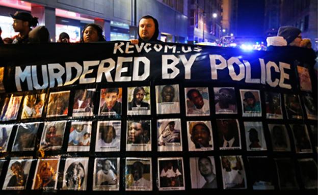 הפגנות על הירי בנער בשיקגו (צילום: רויטרס)