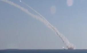 לראשונה: צוללת רוסית תקפה בסוריה (צילום: RT)