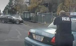 תיעוד: גנב רכב נמלט ונורה למוות (צילום: AP)