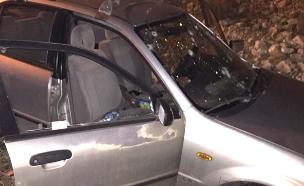 הרכב שנפגע ליד אבני חפץ