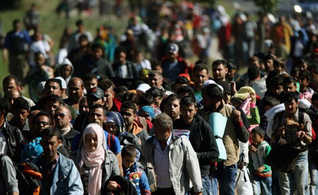 סיכום 2015 - מפת הפליטים (צילום: Christopher Furlong, GettyImages IL)