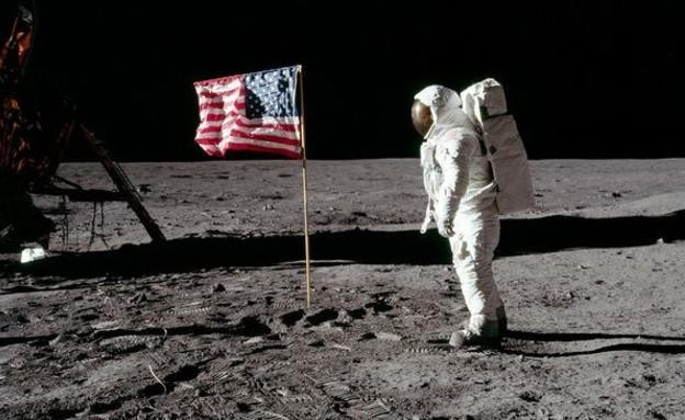 קונספירציה נחיתה על הירח (צילום: NASA)