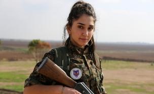 "הכוח הנשי החדש שנלחם בדאע""ש (צילום: אימג'בנק/AFP)"